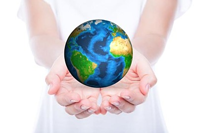 Hands with earth