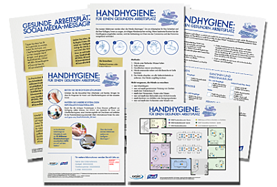 Informationsmaterialien zum Download: Hygiene im Büro