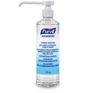 PURELL® Advanced Hygienic Hand Rub, 500mL  Pump Bottle (round)